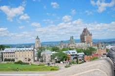 view of quebec city from inside the stone walls