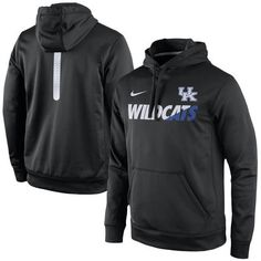 Kentucky Wildcats Nike 2015 Sideline KO Fleece Therma-FIT Performance Hoodie - Black - Fanatics.com