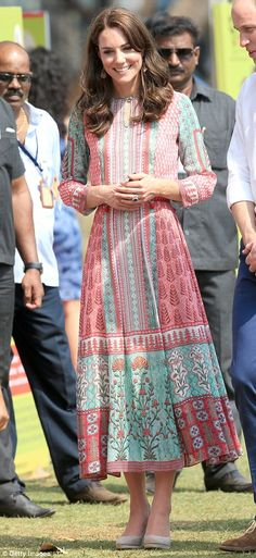 Namaste! Kate and William arrive in India and pay tribute to victims of 2008 Mumbai terror attacks at start of their first royal tour as a couple for nearly two years | Daily Mail Online