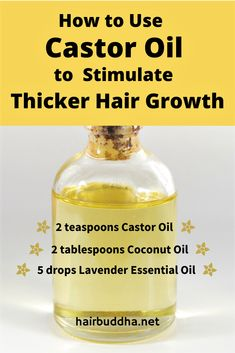 Castor oil works like magic to promote hair growth. It contains ricinoleic acid which detoxifies the scalp, so hair can thrive and grow faster Grow Thicker Hair, Make Hair Grow, Grow Long Hair, Long Hair Growing Tips, Long Hair Tips, Castor Oil For Hair Growth, Diy For Hair Growth, Castor Oil Hair, Homemade Hair Growth Oil