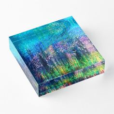 'Luminous Night' Acrylic Block by Faye Anastasopoulou Decorative Throw Pillows, Decorative Items, Home Office Accessories, Theme Pictures, Colourful Living Room, Fancy Houses, Framed Prints, Art Prints, Home Decor Items