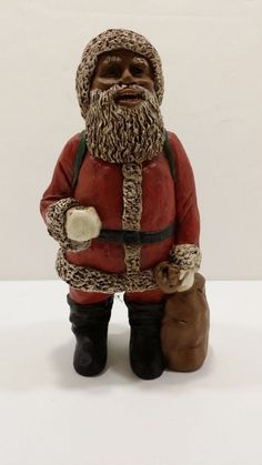 M.Holcombe African American Santa Signed and Numbered