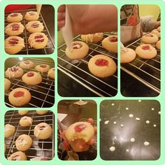 Iced Strawberry almond biscuits made in yesterday's Kid's after school club for an icy day. Keep warm and have a great day x  #yummy #kidsinthekitchen #kidshavingfun #learningalifeskill #bakingmadness #biscuits #icing #fabbakingschool #loughton #essex #london #happyfriday