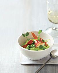 Pea Porridge with Fresh Cheese and Ham Recipe on Food & Wine