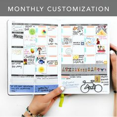 Make the most of your Passion Planner by customizing your monthly spread! Washi tape, stickers, and colored pens are some of our favorite things to use!