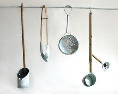 Georgina Leung 005 -Passing 2013 Oxidised Copper, Brass, Enamel, Bamboo Photography: Kim Cowie