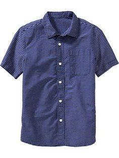 Boys Plaid Poplin Shirt