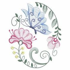 Rippled Butterflies 5 02(Sm) machine embroidery designs