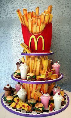 McDonald's French Fries Lover's cake art
