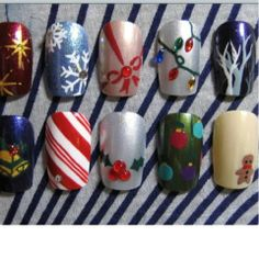 Holiday Nail Ideas #Nails #Beauty #Gifts #Holidays #Christmas Visit Beauty.com for more.