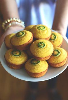 Gluten Free Jalapeño Cornbread Muffins