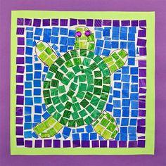 3 - turtle Mosaic  Artsonia Art Museum