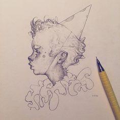 Vonn Sketch - The Entertainer by on DeviantAr.- Vonn Sketch – The Entertainer by on - Drawing Sketches, My Drawings, Face Sketch, Character Art, Character Design, Arte Sketchbook, Ange Demon, Aesthetic Art, Love Art