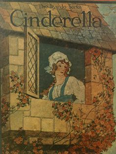 Gift, Under 25 Dollars,Cinderella,The Glass Slipper,Vintage Child's Books,Fairy Tale Book,Home Staging,Ephemera
