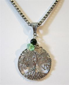 Silver openwork tree of life pendant