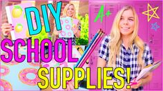 DIY School Supplies! Back to School 2015!
