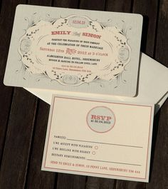 Antique/Vintage Wedding Invites