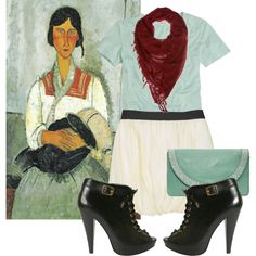 #diskartengpinay  Art Inspired Outfits  Modigliani, created by georgina-m on Polyvore