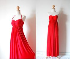 Gorgeous Red Evening Dress by pinksandcloset on Etsy, $55.00