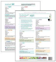 Rollerball Mood Series Make and Take Essential Oil Workshop Kit Recipe Sheet Tear Pad
