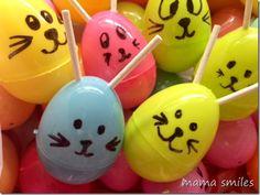 Plastic Easter Egg Bunnies