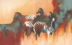 Contemporary South African Artist Erna Wade paints Nguni, wildlife and other African themes in Oils, Acrylic, Mixed Media and Watercolour African Theme, South African Artists, Stretched Canvas, Art Oil, Acrylics, Wildlife, Skyline, Watercolor, Painting