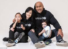 Gentle giant Lomu, posing with wife Nadene for Unicef, spoke of his love and devotion for his children