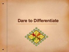 The Dare to Differentiate wiki offers a wealth of resources for teachers implementing differentiated instruction in the classroom. These include understanding by design, planning, creating a supportive environment, knowing the learning, pre-assessment and continuous assessment, and more than a dozen strategies. LOTS OF MENU BOARDS AS WELL!!!