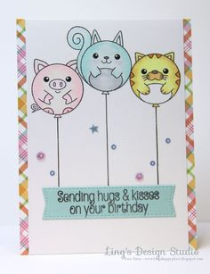 Such an Adorable card created by Vera for the Simon Says Stamp Wednesday challenge (Anything Goes)