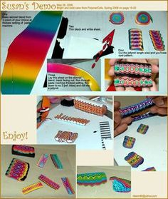 Bright colorful jellyroll cane http://www.photoplus.ws/polymerclay/menu/tutorial/t001.php
