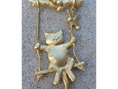 Vintage Signed J.J. Jonette Jewelry Swingin'