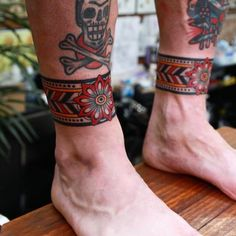 Jul 2019 - Leg tattoos is a great choice and idea for both men and women. Discover a timeless selection of the top 100 best badass tattoos for men and women. Bein Band Tattoos, Old Tattoos, Body Art Tattoos, Small Tattoos, Sleeve Tattoos, Tatoos, Ankle Cuff Tattoo, Leg Tattoo Men, Arm Band Tattoo