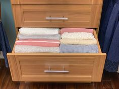 Our team of organizational experts have compiled 3 simple tips for storing your favorite sweaters. How To Fold Sweaters, Hang Sweaters, How To Clean Furniture, Cheap Furniture, Quality Furniture, Sweater Storage, Upholstered Furniture, Closet Organization, Simple Way
