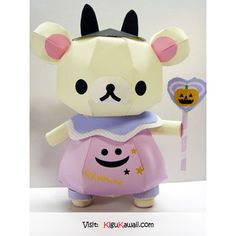 So Cute Halloween Rilakkuma Papercraft~ ♥ Follow Kigu Kawaii for more cute stuff! #kigukawaii #cute #kawaii #adorable #Halloween #Rilakkuma #Papercraft #craft #art #costume