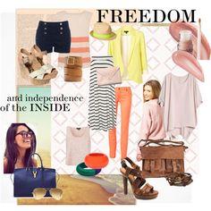 freedom by vasilisa-i on Polyvore featuring мода, Boohoo, Oasis, Topshop, Lipsy, sass & bide, Sam Edelman, Bottega Veneta, Rowallan and Yves Saint Laurent