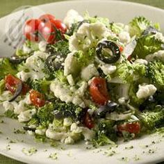Broccoli and cauliflower salad with feta @ allrecipes.co.uk