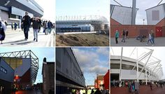 Can you identify all 20 Premier League stadiums from a single picture? Put your knowledge to the test in our quiz Test Quiz, Football Stadiums, Trivia, Premier League, Knowledge, Canning, Daily Mail, Building, Sports