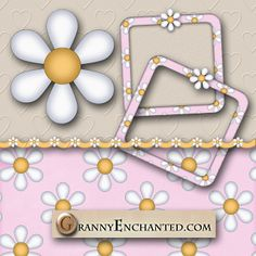 GRANNY ENCHANTED'S FREE DIGITAL SCRAPBOOK KITS: Free Pink Daisy Digi Scrapbook Kit