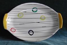 Early STAVANGERFLINT plate 1950's abstract design in the style of Jessie Tait