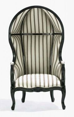 I'm loving this French Louis XV Hall Porter's Chair in a stripe!