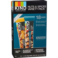 Kind Nuts & Spices Variety Pack 18 Bars 'Open Box' Sealed Bars BB 5/2017 #Kind