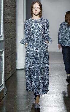 Lyra Printed Dress by Mother of Pearl for Preorder on Moda Operandi