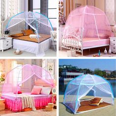 260cm Single-door Elegant Lace Hanging Bedding Mosquito Net Dome Princess Bed Canopy Netting - Newchic Mobile.