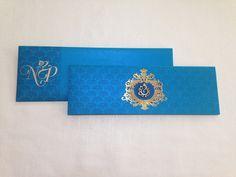 #wedding invitation #bright blue #indian wedding Wedding Invitations, Bright, Indian, Blue, Wedding Invitation Cards, Wedding Invitation, Wedding Announcements, Wedding Invitation Design