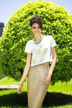 Carol Prates com styling de Rogério S. Coordenação de moda: Gilbrto Júnior.