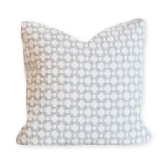 Fabric: Betwixt Zinc and Blanc by Schumacher Fabric Details: 100% Cotton Care: Dry-clean only Features: Invisible Zipper Enclosure Pillow Insert: 100% hypoallergenic polyester fiber (synthetic-down).