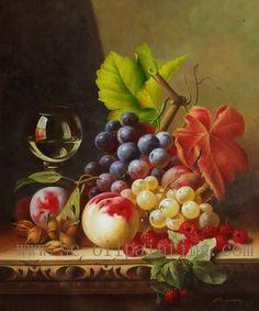 Still Life Fruit Paintings   100% Handmade Still Life Paintings on Canvas