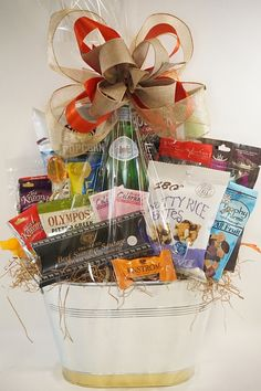 Wine gift baskets although we dont have a liquor license and we gluten free special diet no problem just let us know how we can make your gift basket something your recipient will love to chow down negle Image collections