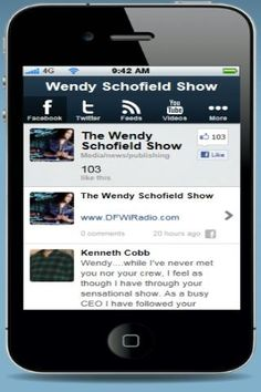 Your host Wendy Schofield has been in broadcasting's #5 Market, Dallas, TX and got her start as the Entertainment Reporter for the Tom Joyner Morning Show. Wendy has worked at K104, KRNB, Talk Productions and KOAI the Oasis. Her talk show Matchmaker was #1 in its time-slot and was featured on both Fox and ABC. Wendy is also a former News Reporter, professional model, NFL Cheerleader and NBA Dancer. She has a degree in Finance and Marketing and is a native of Miami.  http://Mobogenie.com