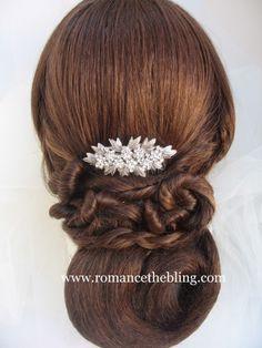 Vintage Inspired Swarovski Crystal Rhinestone Hair Comb